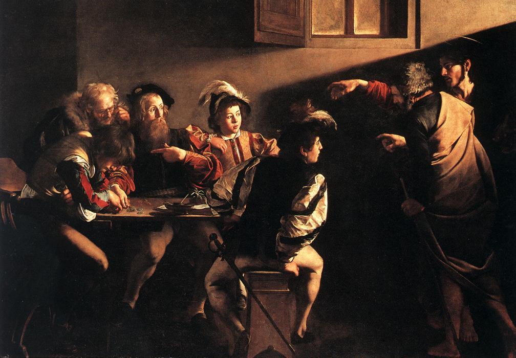 The Calling of Saint Matthew | Michelangelo Merisi da Caravaggio | Oil Painting