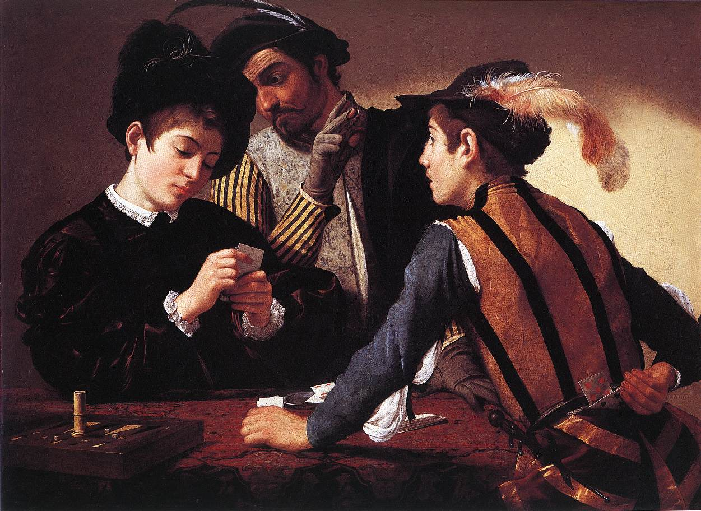 The Cardsharps | Michelangelo Merisi da Caravaggio | Oil Painting