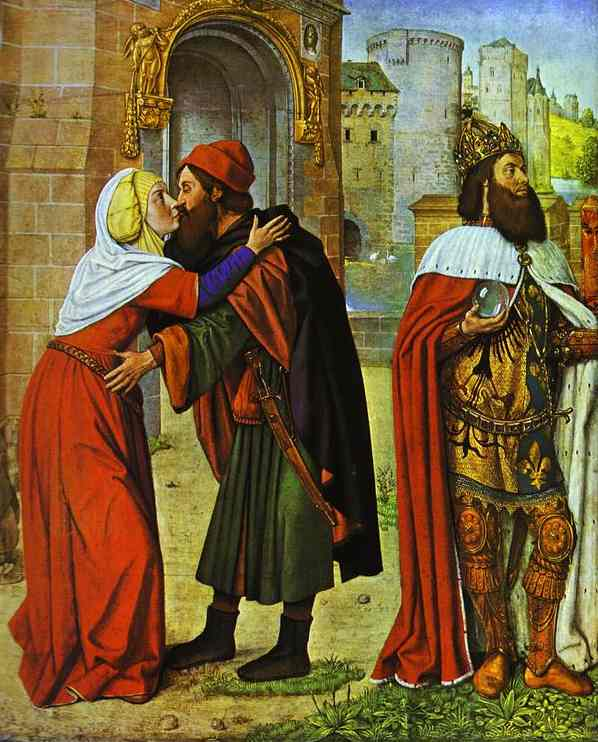Meeting At The Golden Gate 1488 | Jean Master Of Moulins Hey | Oil Painting