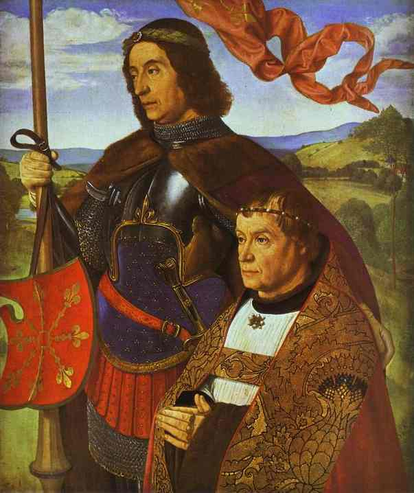 Portrait Of Francis De Chateaubriand Presented By St Maurice | Jean Master Of Moulins Hey | Oil Painting