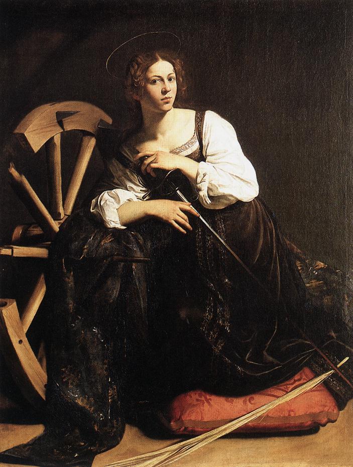 St Catherine of Alexandria   Michelangelo Merisi da Caravaggio   Oil Painting