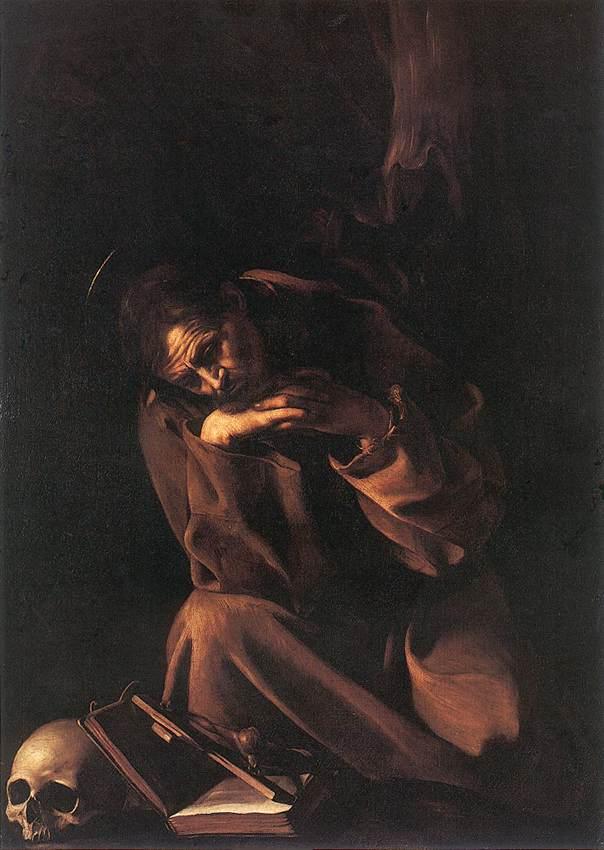 St Francis2 | Michelangelo Merisi da Caravaggio | Oil Painting