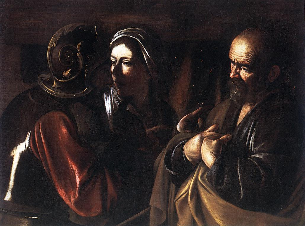 The Denial of St Peter | Michelangelo Merisi da Caravaggio | Oil Painting