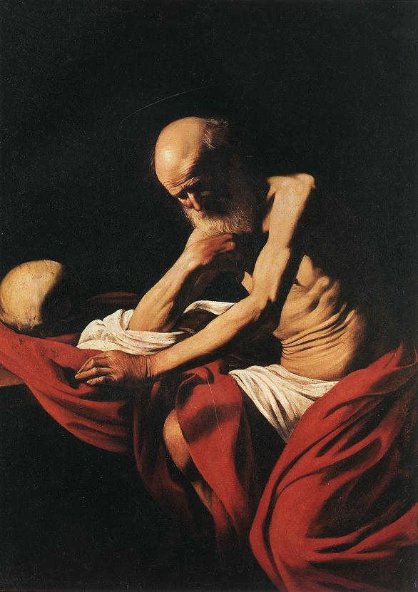 St Jerome1 | Michelangelo Merisi da Caravaggio | Oil Painting