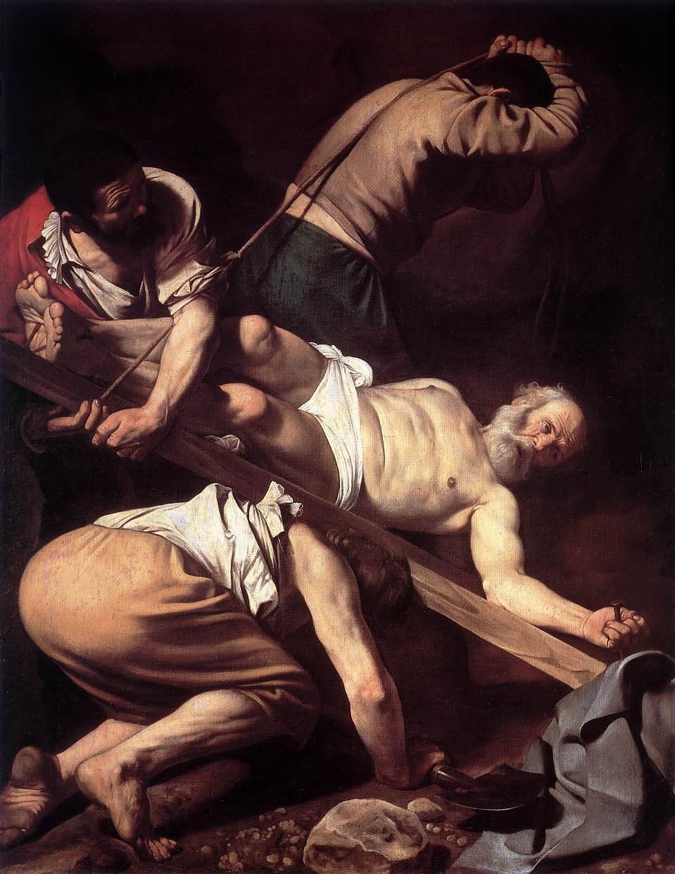 The Crucifixion of Saint Peter | Michelangelo Merisi da Caravaggio | Oil Painting