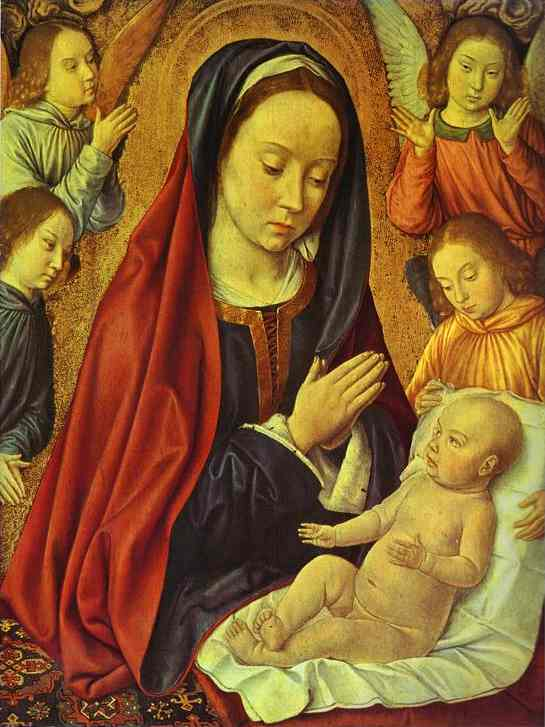 The Virgin Surrounded By Angels 1490 | Jean Master Of Moulins Hey | Oil Painting