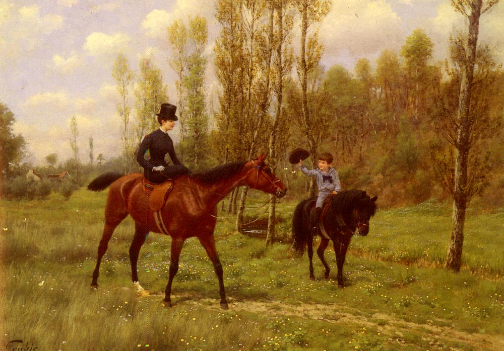 The Morning Ride | Jean Richard Goubie | Oil Painting