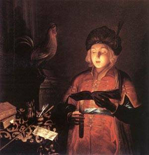 Young Man With A Candle 1681 | Michel Gobin | Oil Painting