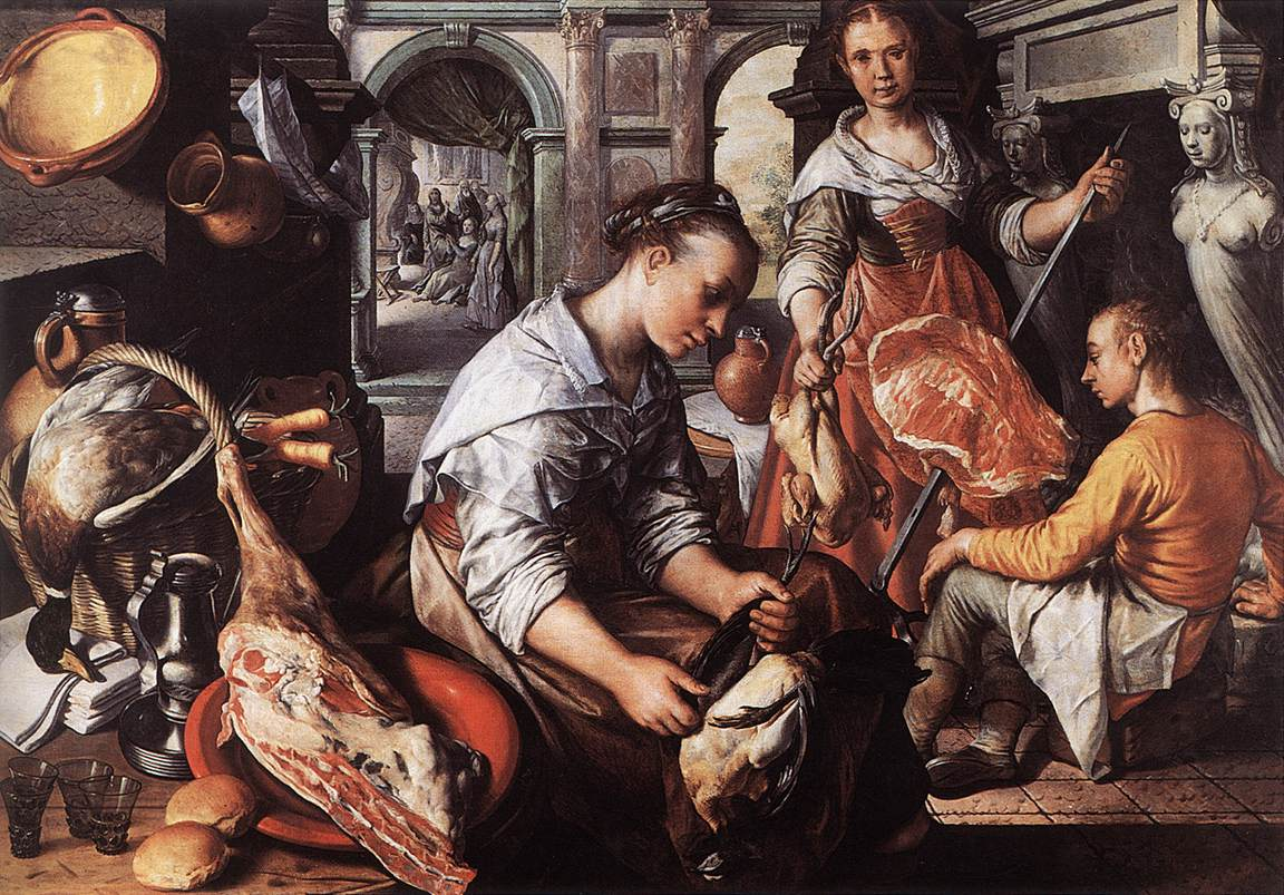 Christ In The House Of Martha And Mary 1565 | Joachim Beuckelaer | Oil Painting