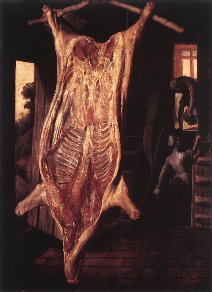 Slaughtered Pig 1563 | Joachim Beuckelaer | Oil Painting