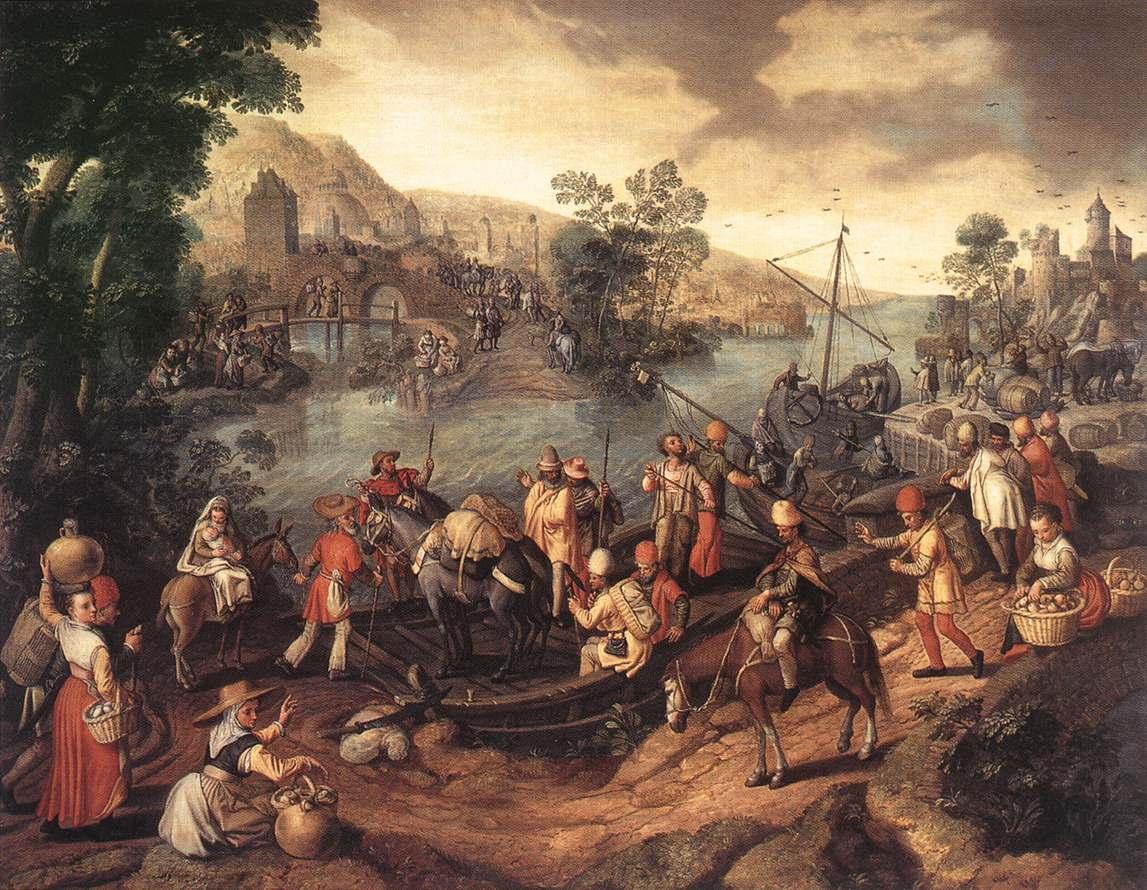 The Flight Into Egypt | Joachim Beuckelaer | Oil Painting