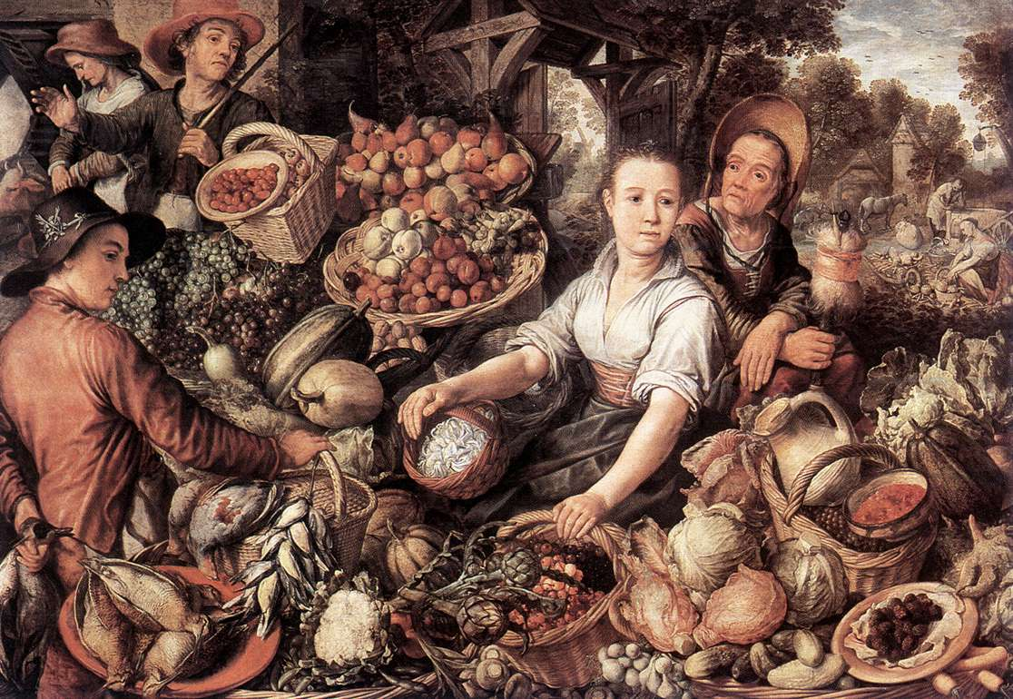 The Vegetable Market 1567 | Joachim Beuckelaer | Oil Painting