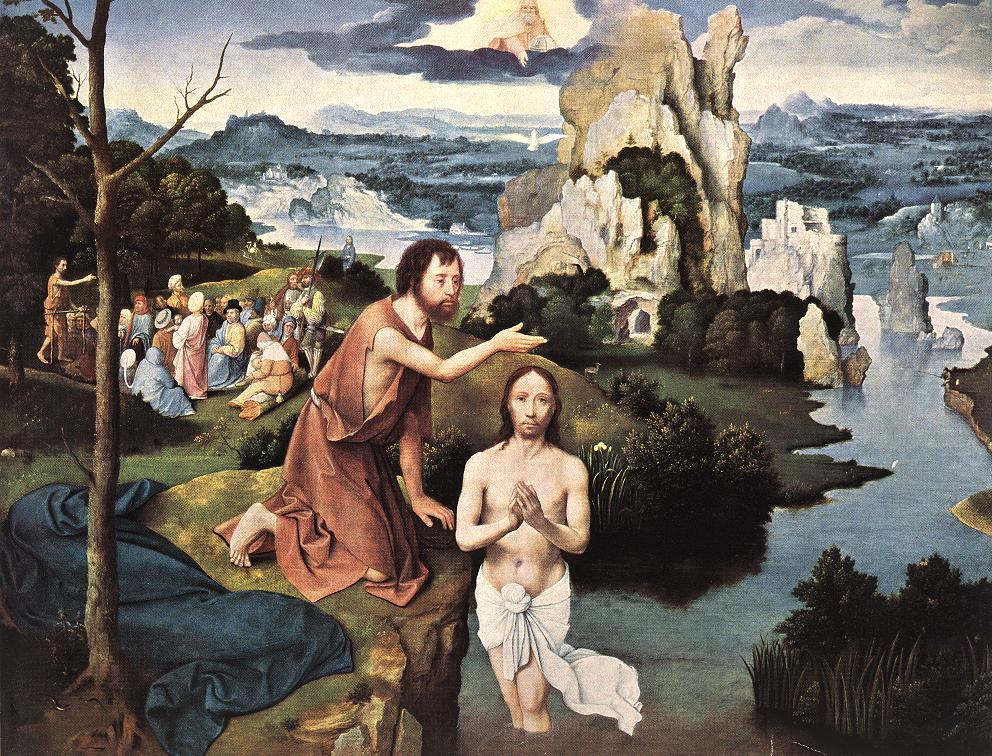 Baptism Of Christ | Joachim Patenier | Oil Painting