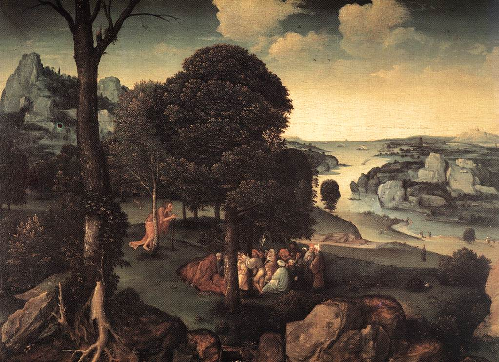 Landscape With St John The Baptist Preaching | Joachim Patenier | Oil Painting