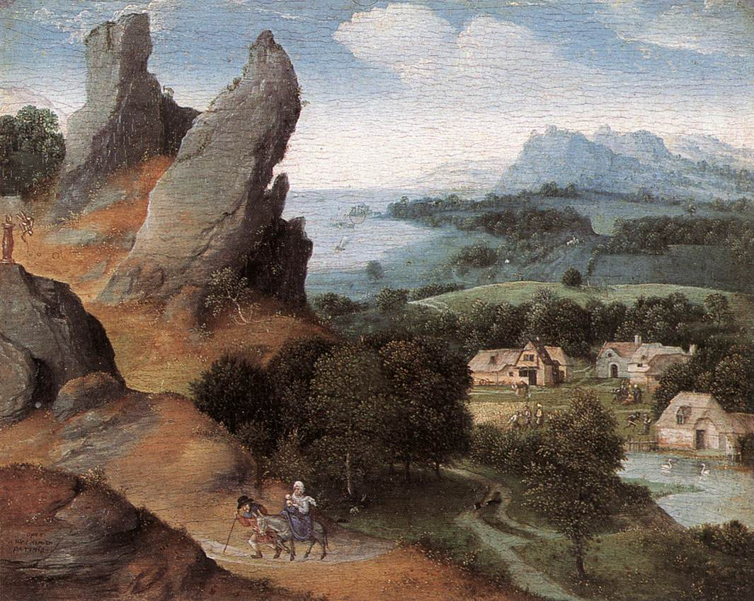 Landscape With The Flight Into Egypt | Joachim Patenier | Oil Painting