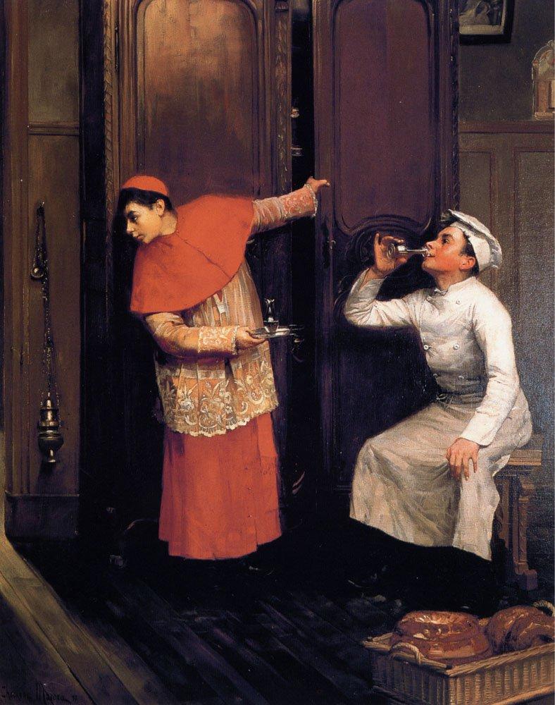 A Spiritual Libation | Moreau Paul Charles Chocarne | Oil Painting