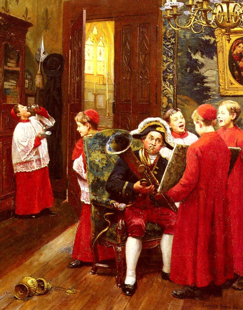 La Repetition Generale | Moreau Paul Charles Chocarne | Oil Painting
