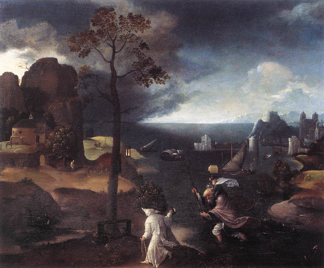 St Christopher Bearing The Christ Child | Joachim Patenier | Oil Painting