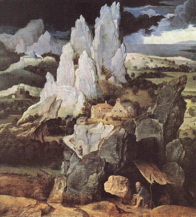 St Jerome In Rocky Landscape 1520 | Joachim Patenier | Oil Painting