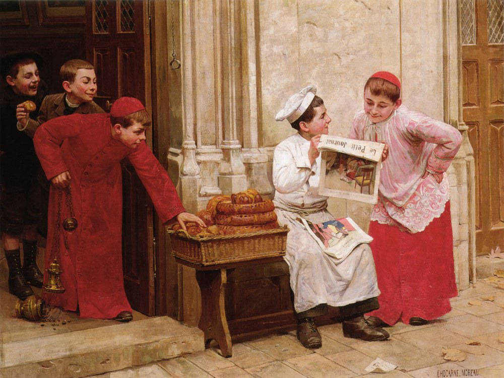 Le Petit Journal | Moreau Paul Charles Chocarne | Oil Painting