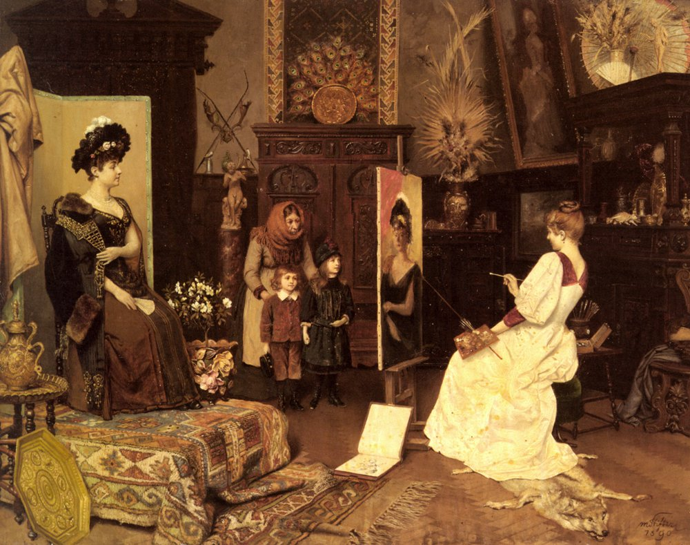Im Atelier | Moritz Stifter | Oil Painting