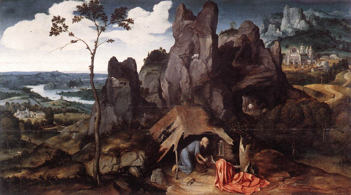 St Jerome In The Desert 1520 | Joachim Patenier | Oil Painting
