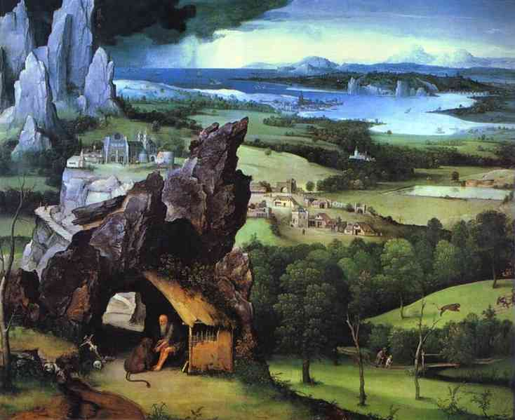 Landscape With St Jerome 1515-24 | Joahim Patinir | Oil Painting