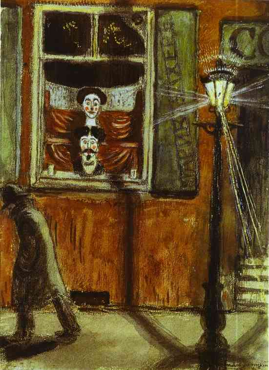 Barbershop Window 1906 | Mstislav Dobuzhinsky | Oil Painting