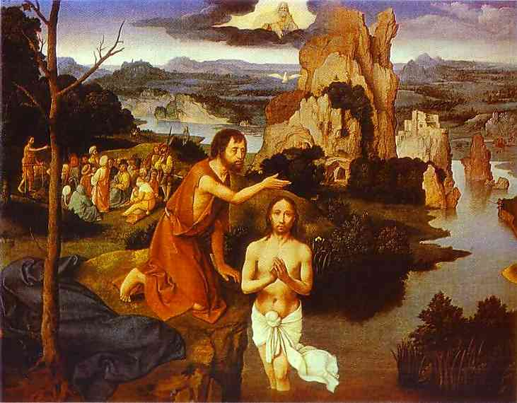 The Baptism Of Christ 1515 | Joahim Patinir | Oil Painting