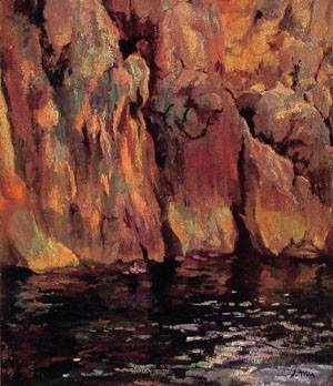 The Grotto | Joaquin Mir Y Trinxet | Oil Painting