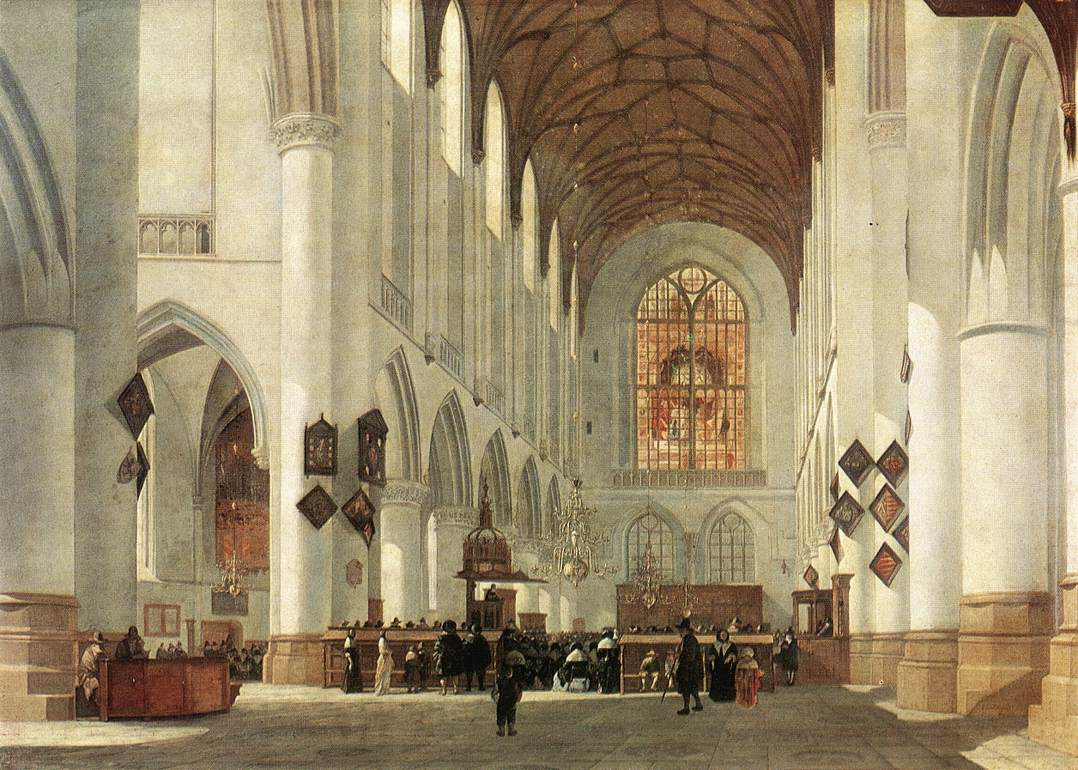 Interior Of The St Bavo Church At Haarlem 1665 | Job Berckheyde | Oil Painting
