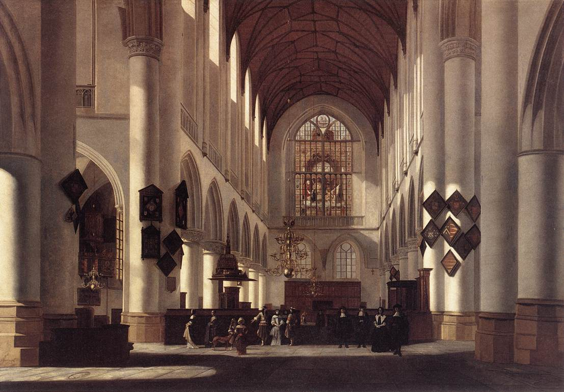 Interior Of The St Bavo In Haarlem 1668 | Job Berckheyde | Oil Painting