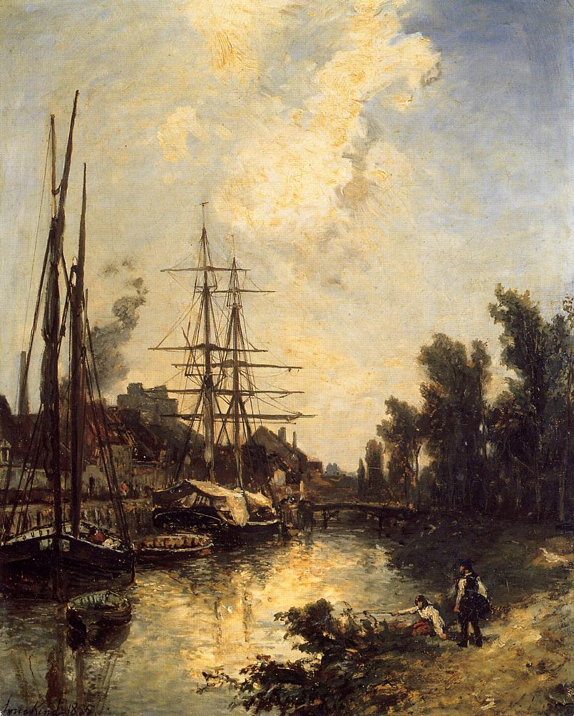 Boats Dockside  1855 | Johan-Berthold Jongkind | Oil Painting