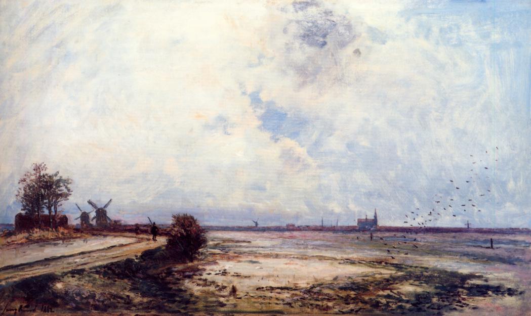 Dutch Landscape  1862 | Johan-Berthold Jongkind | Oil Painting