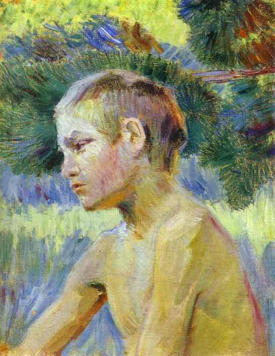 Boy Seated 1901 | Musatov Victor Borisov | Oil Painting