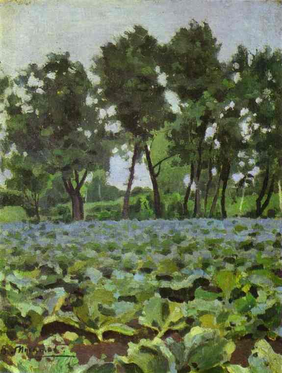 Cabbage Field With Willows 1893-94 | Musatov Victor Borisov | Oil Painting