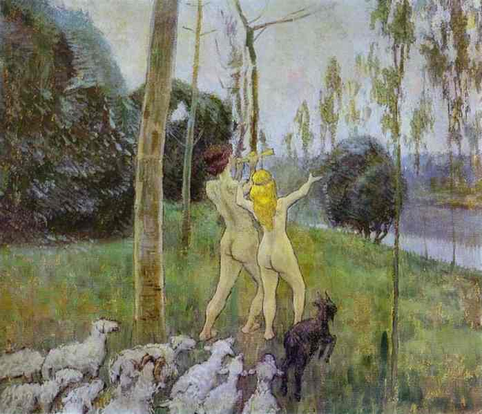 Daphnis And Chloe 1901 | Musatov Victor Borisov | Oil Painting
