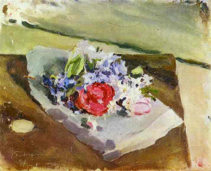Flowers Sketch 1894 | Musatov Victor Borisov | Oil Painting