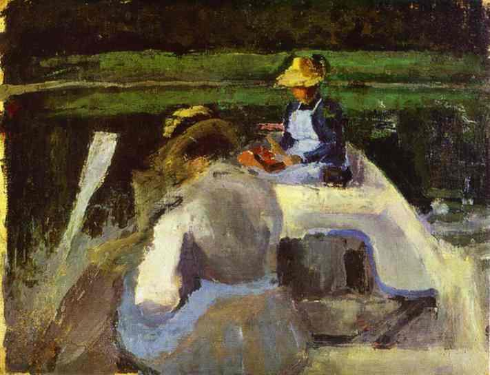 In A Boat 1892-94 | Musatov Victor Borisov | Oil Painting