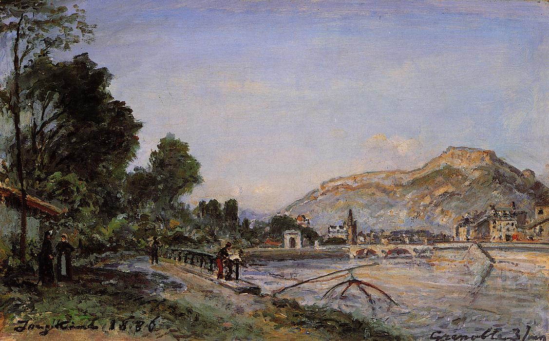 The Banks of the Isere at Grenoble in Spring  1886 | Johan-Berthold Jongkind | Oil Painting