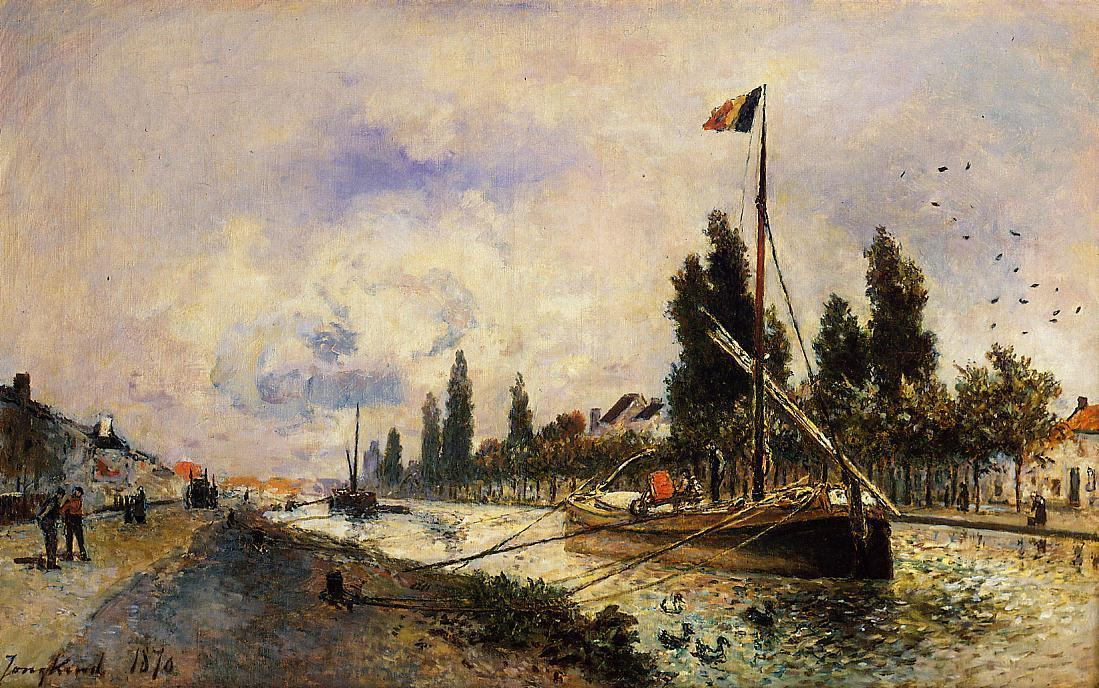 The Barge on the Canal near Paris  1870 | Johan-Berthold Jongkind | Oil Painting