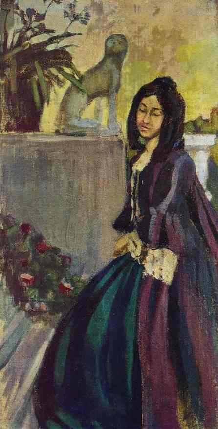 In The Park 1901-1903 | Musatov Victor Borisov | Oil Painting