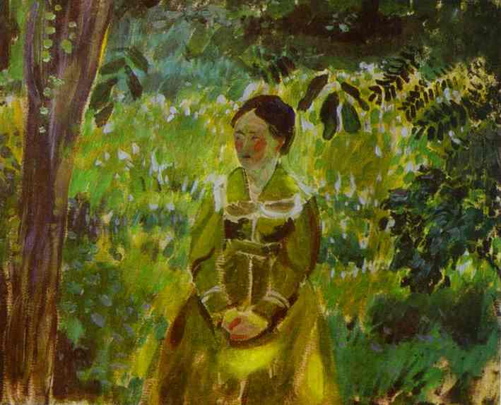 Lady In A Garden 1903-1904 | Musatov Victor Borisov | Oil Painting