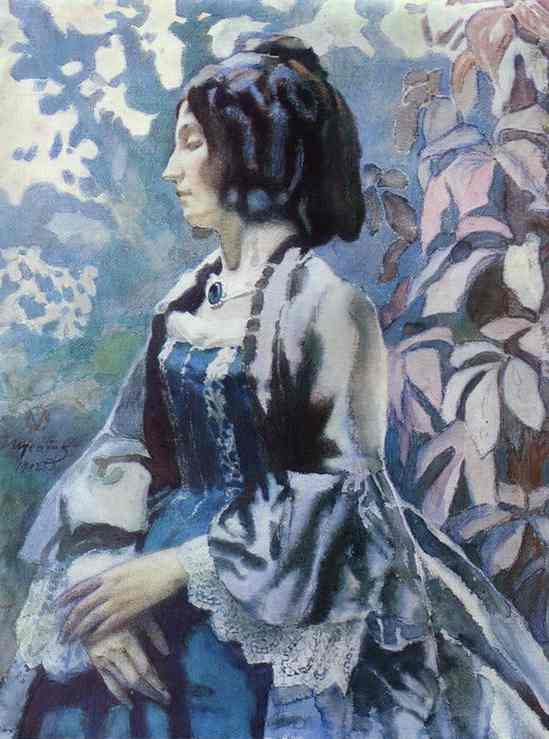 Lady In Blue 1902 | Musatov Victor Borisov | Oil Painting