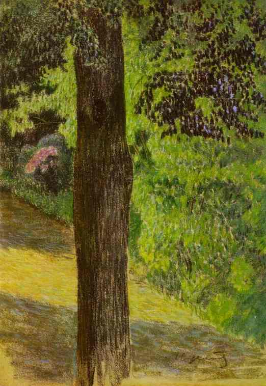 A Path In A Garden 1904 | Musatov Victor Borisov | Oil Painting