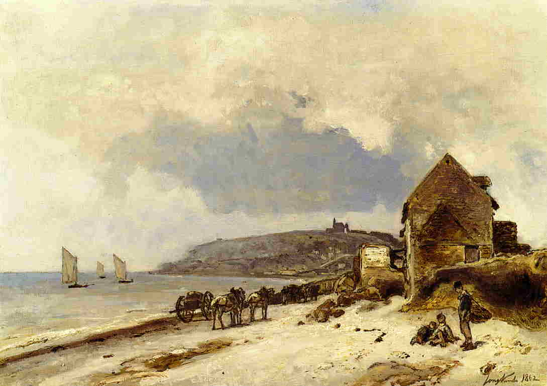 The Beach at Sainte-Adresse  1862 | Johan-Berthold Jongkind | Oil Painting