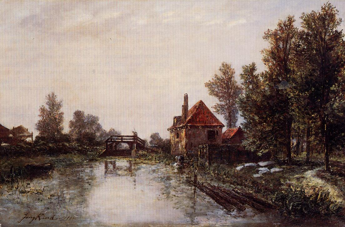 The Lock  1863 | Johan-Berthold Jongkind | Oil Painting