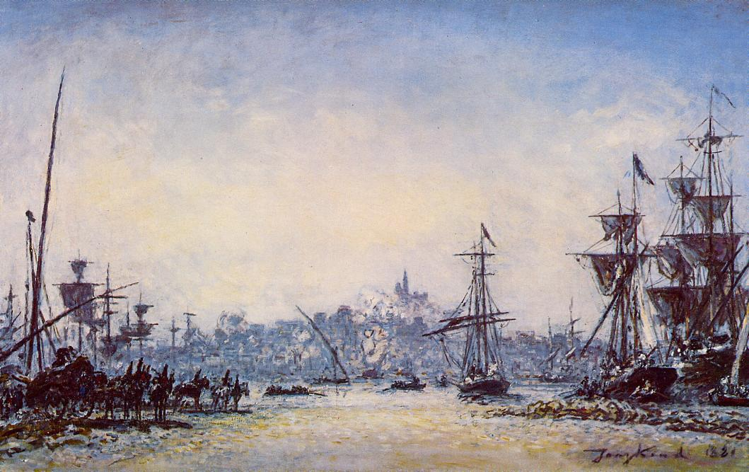 The Port of Marseille  1881 | Johan-Berthold Jongkind | Oil Painting