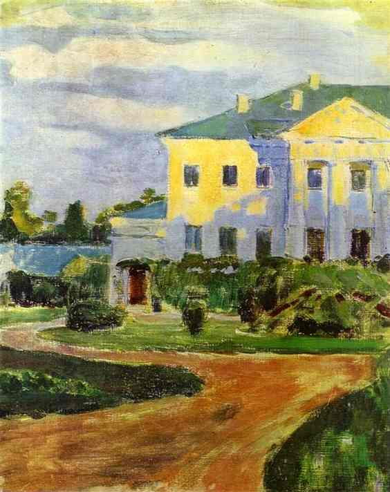 Manor House At Zubrilovka 1903 | Musatov Victor Borisov | Oil Painting