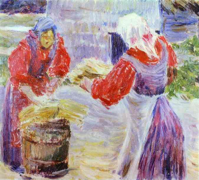 Peasant Women Sketch | Musatov Victor Borisov | Oil Painting
